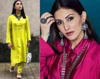 Fuse solid kurta with statement jewellery to stand out this festive season