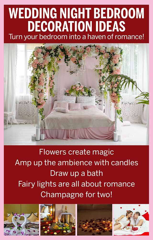 Wedding First Night Romantic Bedroom Decoration Ideas Femina In