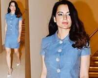 Kangana Ranaut: Casual in blues