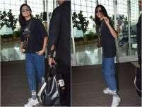 Anushka Sharma Is All Smiles At The Mumbai Airport