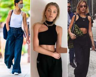 '90s Tiny Tops And Baggy Pants Are Making A Fashionable Comeback