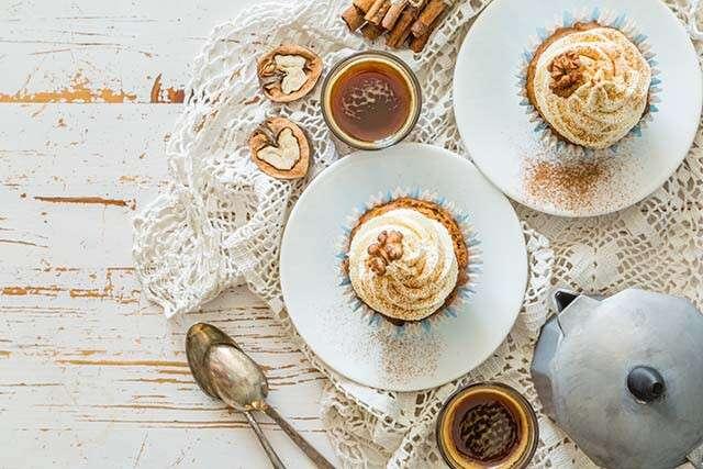 Petits gâteaux au café et aux noix