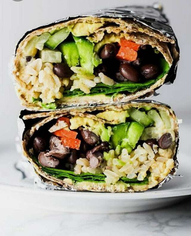 Hummus Vegetable Wrap Healthy Recipe