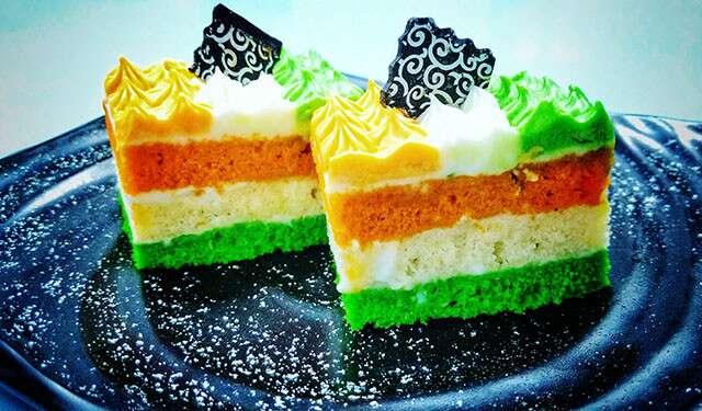 tricolor dessert PASTRY
