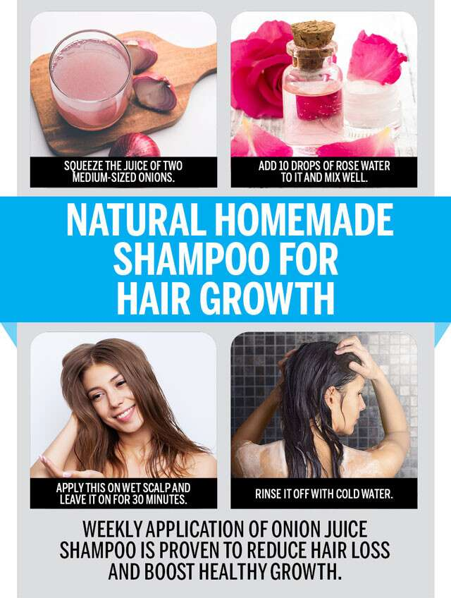 Natural Homemade Shampoo For Hair Growth Infographic