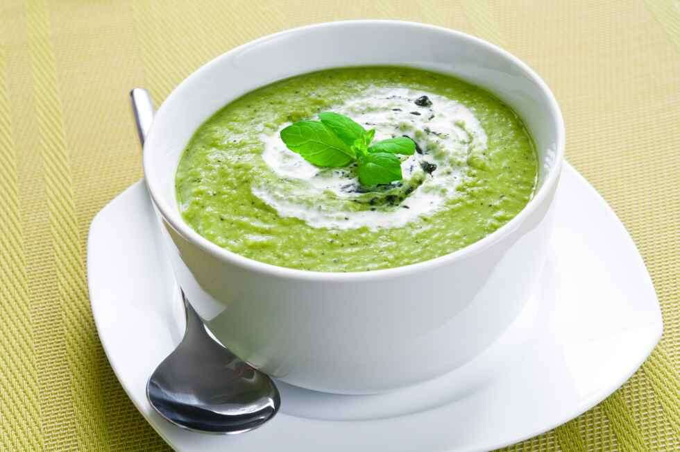 Easy Soups Mint and Zucchini Soup