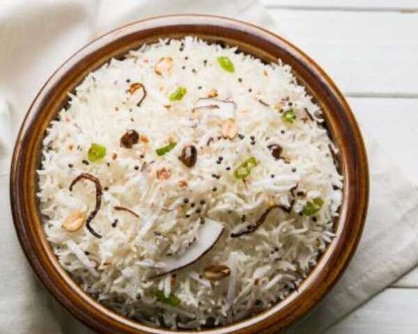Coconut Khichdi with Kaffir Lime and Toasted Peanuts