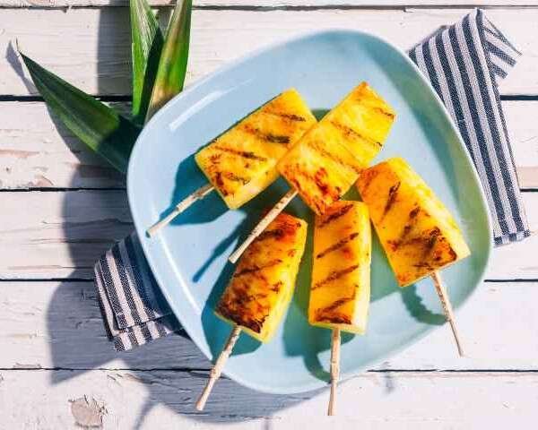 Party Appetisers Pineapple Satay Skewers