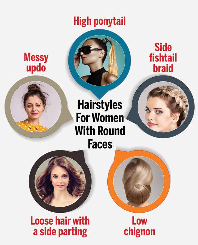 Haircuts Hairstyles For A Round Face Femina In
