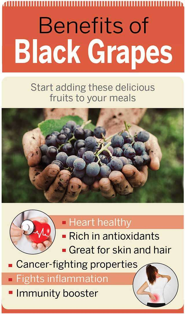 Black Grape Benefits Infographic