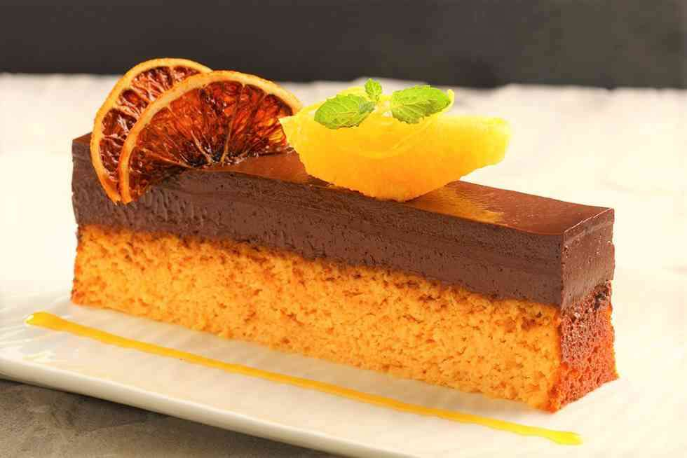Mandarin Chocolate Velvet Cake Shiro