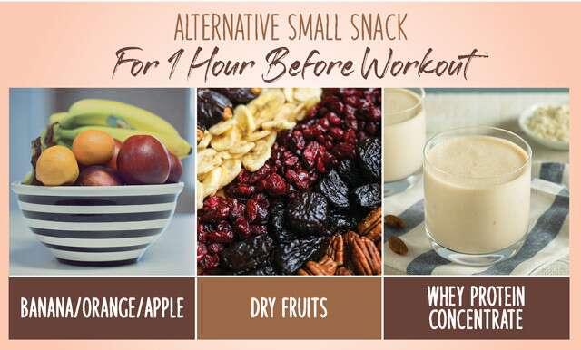 Nutrition pré-entraînement: petites collations alternatives