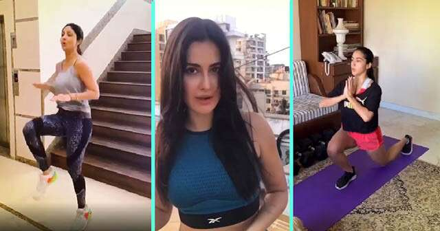 Bollywood Celebs Workout During Lockdown