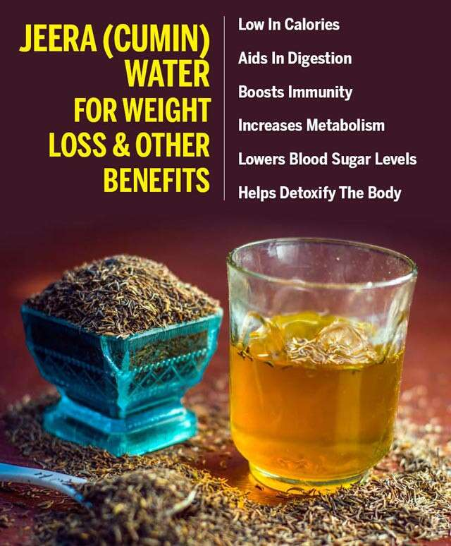 Jeera Water For Weight Loss Infographic