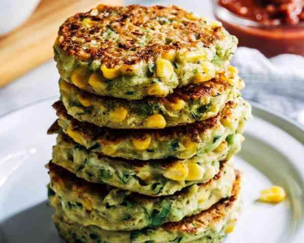 Zucchini Corn Fritters, Sheraton Grand Bengaluru Whitefield Hotel