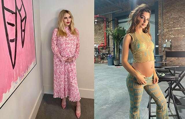 Emily Ratajkowski Emma Roberts Maternity Styles