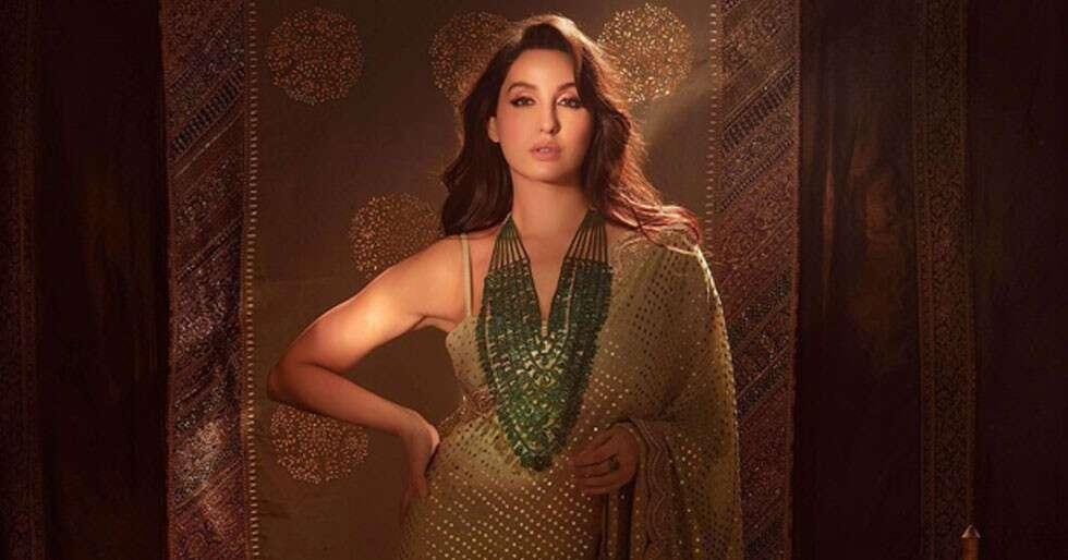Nora Fatehi Looks Like Royalty In Her Diwali Sari