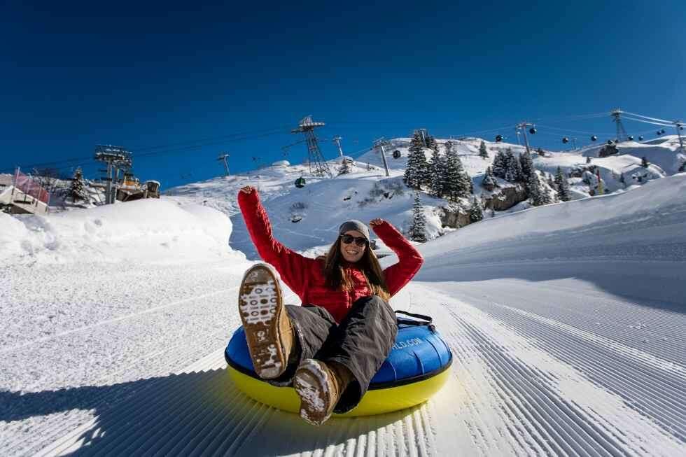 Switzerland Snow activity Mt.Titlis