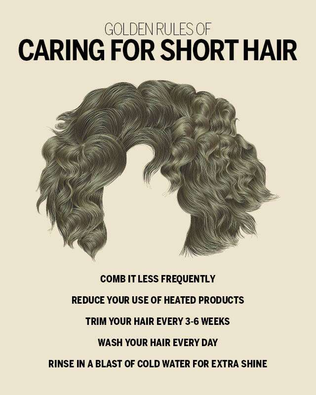 Short Haircut Styles for Girls and Women Infographic