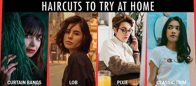 Haircut Styles To Try At Home Infographic