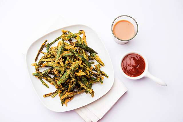 Healthy Late Night Snack: Okra Chips