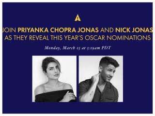 Priyanka Chopra Jonas And Nick Jonas At Oscars 2021