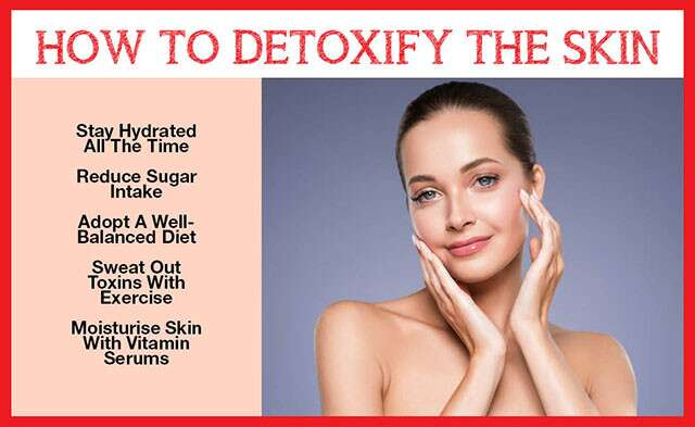 How ToDetoxify The Skin Infographic