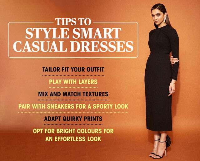 Smart Casual Dresses for Women Infographic