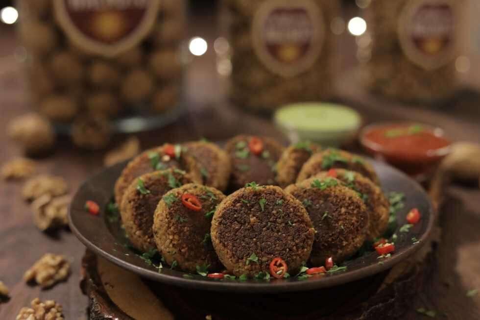 sm ramzan food Walnut Paneer Kebab