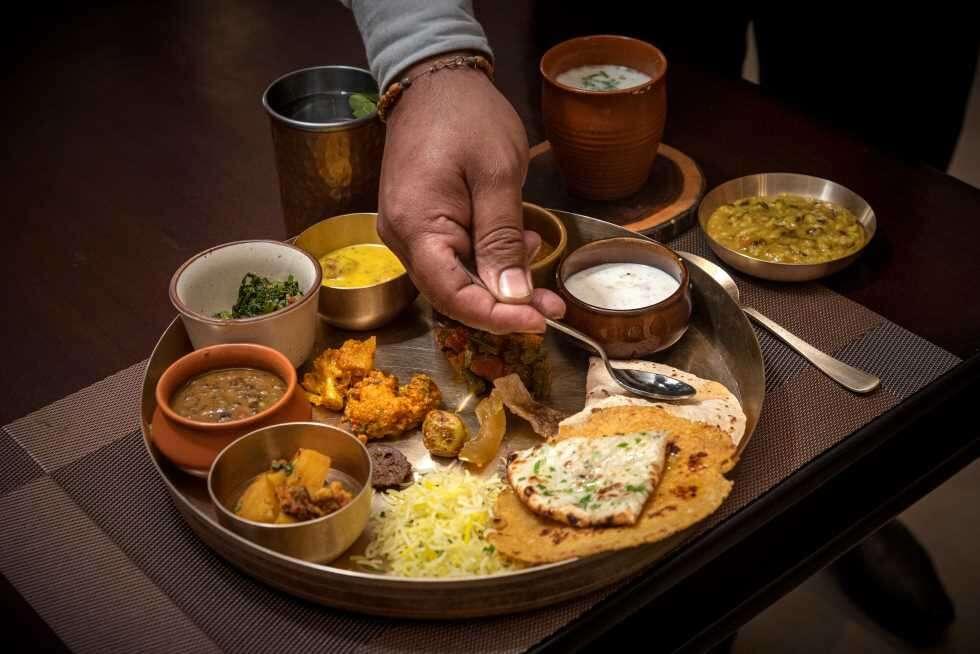 t regional food Raj bhog thali at Varr