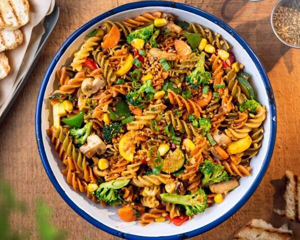 healthy stir fried pasta