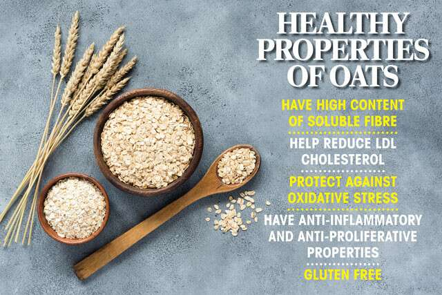 Facts Of Oats Nutrition Infographic