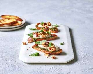 #CookAtHome: Easy Crostini with Walnut Parmesan Cream