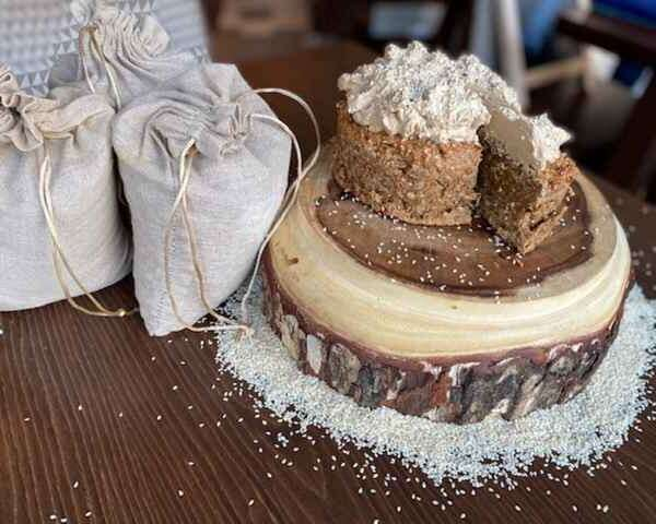 Gluten free Sesame and Oat meal Cake