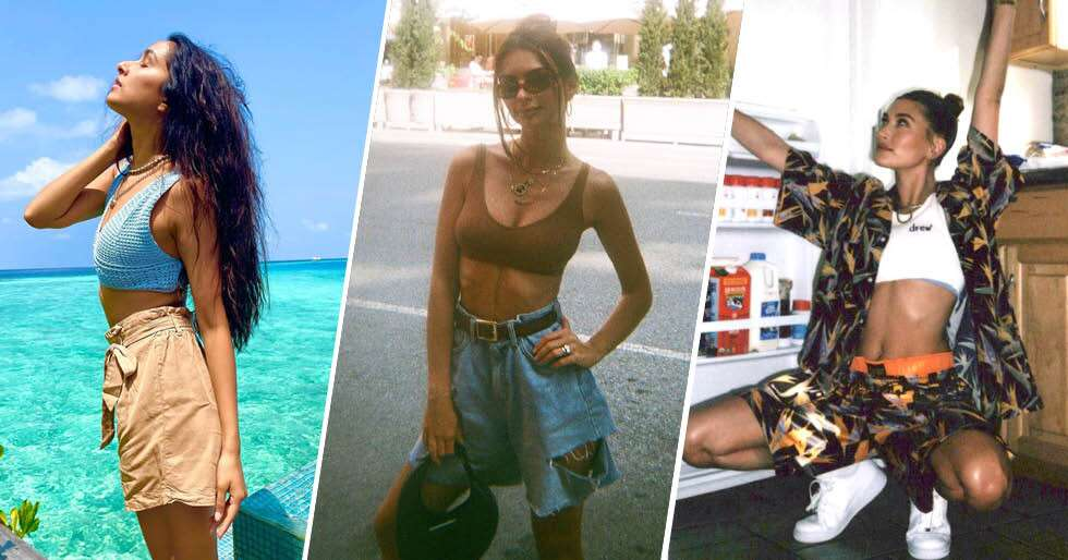 Celebs Are Ditching HotpantsForBermuda Shorts In 2021