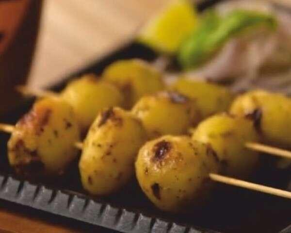 caramelised barbecued potatoes