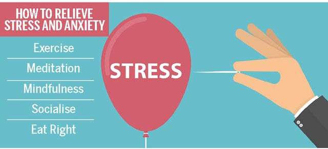 How To Relieve Stress And Anxiety Infographic