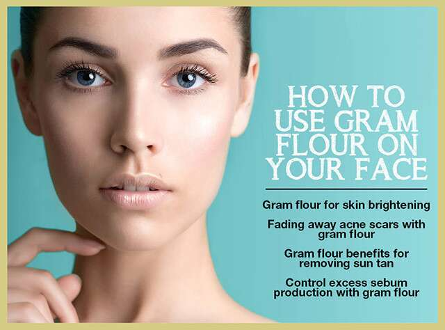 How To Use Gram Flour On Your Face Infographic