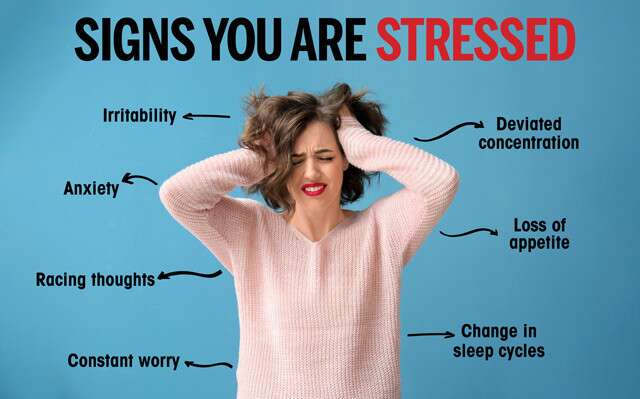 Signs You Are Stressed Infographic