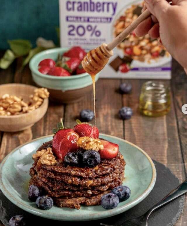 Chocolate & Cranberry Pancakes
