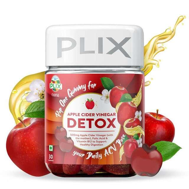 Apple Cider Vinegar Detox Gummies, Plix