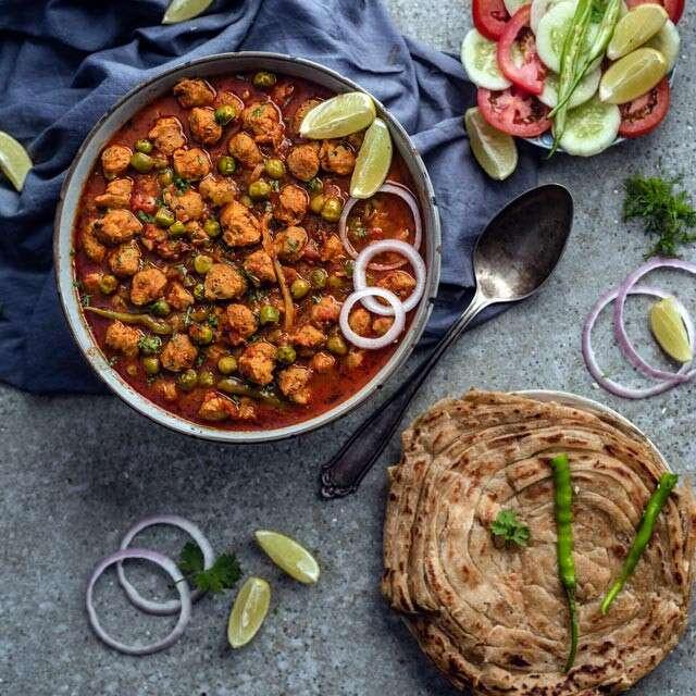 Healthy Dinner Recipes: Soya Matar