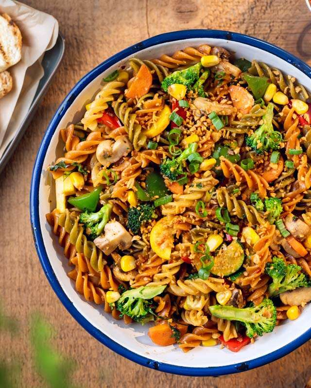Healthy Dinner Recipes: Stir-Fried Vegetables With Pasta