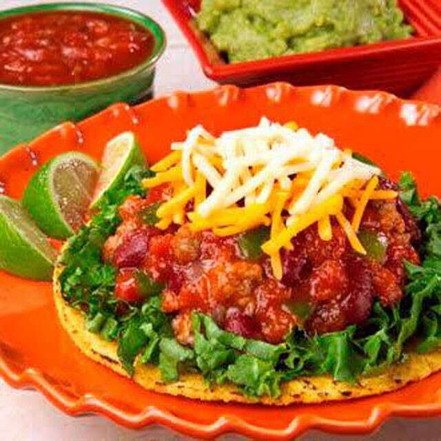 Crumbled Cottage Cheese Tostada