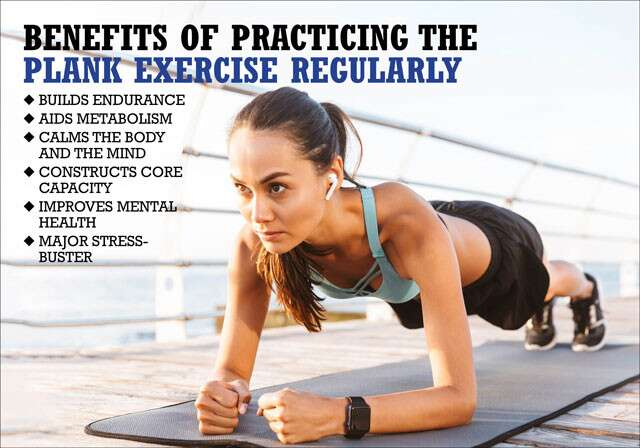Health Benefits of Practicing The Plank Exercise Every Day Infographic
