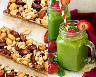 Quick Healthy Breakfast Replete With Nuts, Cheese & Jungle Berry!