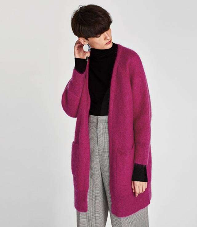 Pink Long Mohan Cardigan