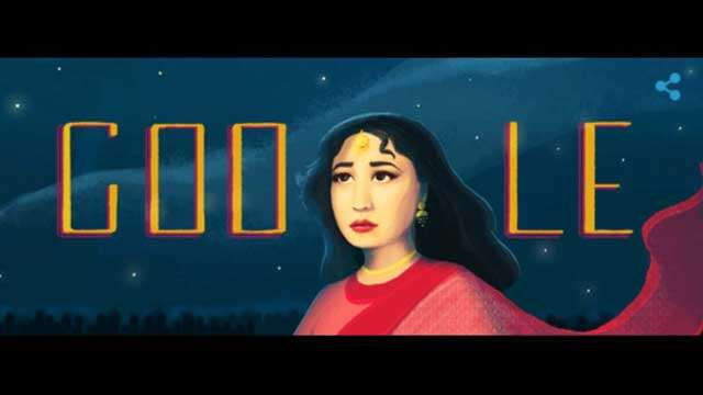 Google remembering meena kumari on her birth anniversary