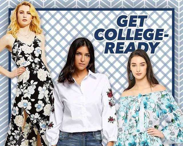 Get college girl look