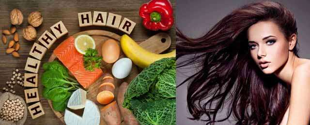 Food for strong and healthy hair